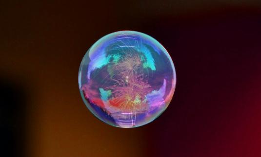 Fireworks bubble