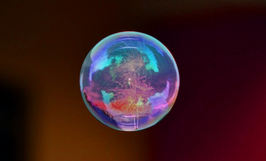 Fireworks bubble